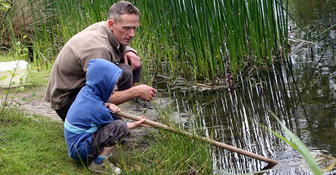 Pond dipping with our Ranger team