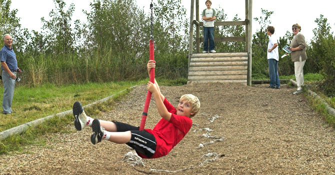 Take on the challenge of our zipwire