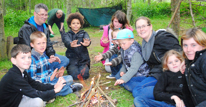 Learning bushcraft skills with our Ranger Team
